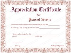 Pin by alizbath adam on certificates pinterest certificate take the time to download this years of service certificate template today and show your employees yadclub Images