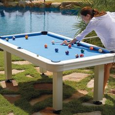 Non Slate Outdoor Billiard Table With Accessories   Pool Tables