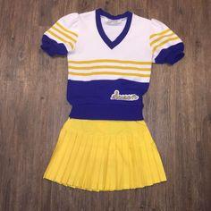 Real Vintage 80's Cheerleading Uniform Ladies Small / Med   eBay