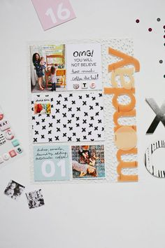 Scrapbook Sunday with the January Messy Box