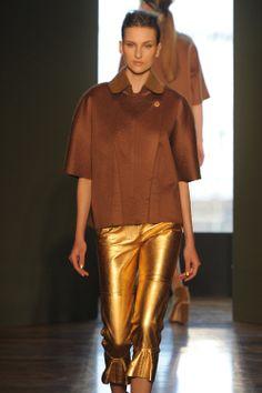 Alexandre Herchovitch bronz foil print pants