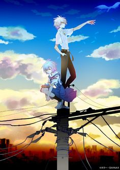 Rei x Kaworu (Reminds me of Noragami)