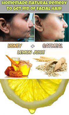 Homemade natural remedy to get rid of facial hair