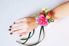 Pink flower corsage, Flower wrist corsage, Bridesmaids corsage, Bridal wrist corsage, Prom Flower Corsage, Flower Girl Corsage, Wedding Bridesmaid Corsage, Corsage Wedding, Bridesmaids, Flower Corsage, Wrist Corsage, Yellow Maxi Skirts, Long Chiffon Skirt, Prom Flowers, Party Skirt