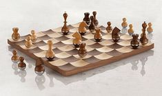Wobble chess board- love the look of this!