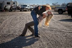 Rusty Wright with his girlfriend, Morgan Hardy, during the National High School Finals Rodeo in Rock Springs, Wyoming, last July. Rusty was the champion in 2012 and 2013. (Photo: Josh Haner/The New York Times)