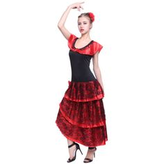 Adult ladies spanish senorita #fancy #dress flamenco dancer costume salsa #rumba,  View more on the LINK: http://www.zeppy.io/product/gb/2/141443292707/