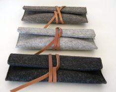 Embrayage-iPhone Pochette en feutre laine par Ecolution sur Etsy