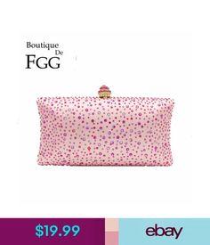 Women's Bags & Handbags Pink Crystal Clutch Evening Bags Bridal Purse Wedding Clutches Party Handbag #ebay #Fashion