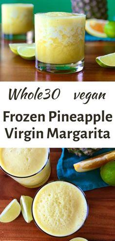 Virgin Margarita, Frozen Mango Margarita, Pineapple Margarita, Frozen Pineapple, Frozen Margaritas, Strawberry Margarita, Alcohol Recipes, Real Food Recipes, Drink Recipes