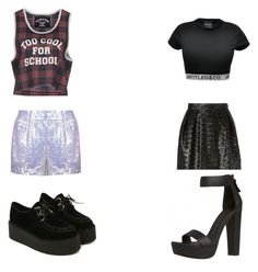 """""""HELLOVENUS I'm Ill"""" by daebakattitude ❤ liked on Polyvore featuring MSGM, Jaded London, CO and Filles à papa"""
