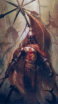Warrior - Two handed style Medieval Knight, Medieval Fantasy, Dark Fantasy, Crusader Knight, Knight Armor, Paladin, Marshmello Wallpapers, Knight Tattoo, Christian Warrior