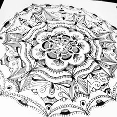 """1 Likes, 1 Comments - Laurie Spugnardi (@dotlovesline) on Instagram: """"Mandala: a symbol in a dream, representing a search for completeness and self-unity. #lineart…"""""""