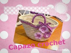Capazo Painted Baskets, Fru Fru, Ideas Para, Embellishments, Weaving, Diy Crafts, Handbags, Cool Stuff, Knitting