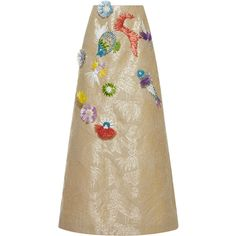 4f52d470277d4 DELPOZO Long Embroidered Skirt (70 750 UAH) ❤ liked on Polyvore featuring  skirts