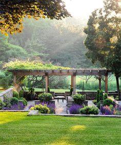 Backyard Garden On A Budget backyard garden pergola vines.Beautiful Backyard Garden Tips. Backyard Garden Design, Backyard Landscaping, Balcony Garden, Landscaping Ideas, Backyard Designs, Diy Garden, Pergola Designs, Garden Boxes, Backyard Patio