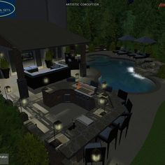 Pool Design by Wise Pool & Spa - 3d Pool, Swimming Pools Backyard, Pool Spa, Swimming Pool Designs, Pool Service, In Ground Pools, Pool Ideas, Poker Table, Design Projects