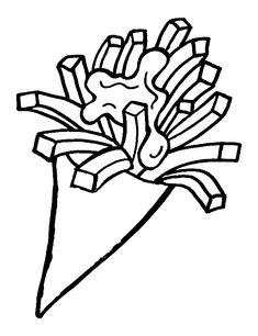 French fries are my favorite food! Free Coloring Pages, Coloring Sheets, Coloring Books, Belgium Country, Burger And Fries, Lunch Snacks, French Fries, My Favorite Food, Holland