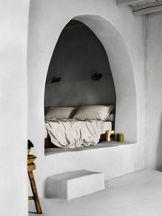 A cosy bedroom nook, escape the world and dream away