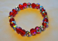 Beaded Stretch Bracelets with Glass Beads by BohoAppealByAly