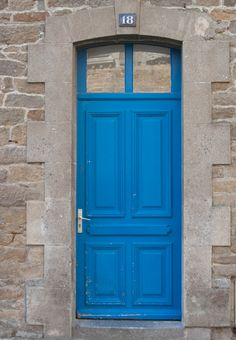 Blue door in Cancale  // a Thunder Blue Door in Paris, OKC =)