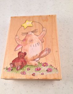 Bunny Starlight Starbright Rubber Stamp by SuzSupplies on Etsy