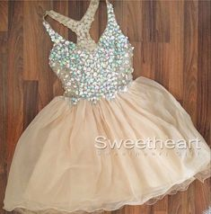 Tulle Homecoming Dress Short Prom Dress Elegant 2016 New arrival Champagne Homecoming gown For Teens - Thumbnail 2 2016 Homecoming Dresses, Hoco Dresses, Dance Dresses, Pretty Dresses, Elegant Dresses, Beautiful Dresses, Evening Dresses, Formal Dresses, Dress Prom