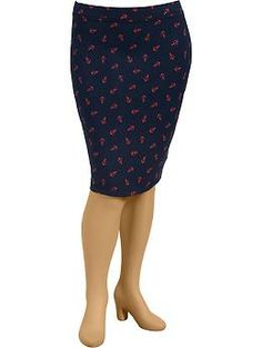 Womens Plus Knit Pencil Skirts - just ordered this! so excited!
