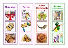 My Jewish Calendar - a card matching game for children from Joyfuljewish.wordpress.com