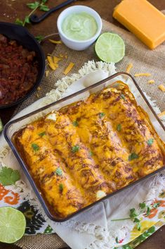 Healthy Chicken Enchiladas - A secret ingredient makes these low carb, GF and high protein! | Food Faith Fitness | #recipe #enchilada #healt...