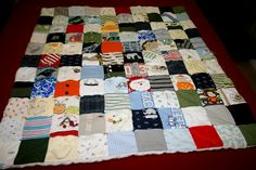 Picture tutorial for making a simple (but awesome!) memory quilt out of baby clothes