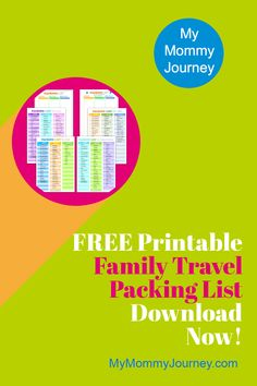 Family travel is everyone's favorite family bonding. But the stress of packing for a family trip can be daunting. This family travel packing list helps ease the stress of remembering everything you need to bring. Never forget anything at home again. Pin this to your Family Travel or Traveling With Kids Boards. #familytravel #familytravelpackinglist #travelpackinglist