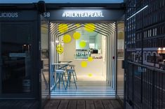 Architectural Optical Illusion | Milk Tea & Pearl Boxpark - Atelier Y A O