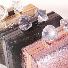 Diamonds are a girl's best friend! Ted Baker's Mirror Mirror glitter clutch.