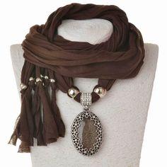Aliexpress.com: Comprar Nueva llegada 2015 fiesta moda mujeres bufanda de cuello del abrigo collares joyería de lujo Feminina bufanda del collar caliente para mujeres de collar de rack fiable proveedores en bag_mall