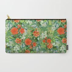 Tropical Garden Carry-All Pouch #floral #tropical #fashion #ss17