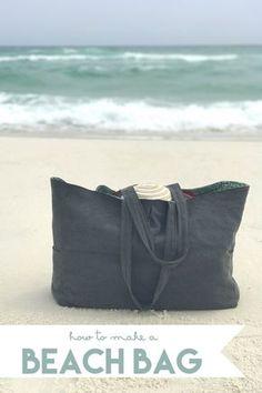 how to make a beach bag - sew a super cute tote!