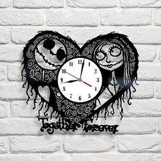 Nightmare Before Christmas - 1 design vinyl clock in Home, Furniture & DIY, Clocks, Wall Clocks | eBay