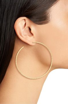Argento Vivo Large Hoop Earrings (Gold) #Nordstrom