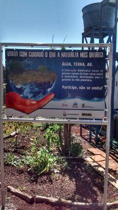 Projeto de conscientização ambiental.