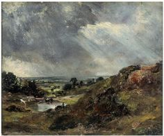 Branch Hill Pond, Hampstead, John Constable, 1819. Constable moved to Hampstead in the summer of 1819 and Branch Hill Pond became one of his favourite subjects. He based several larger paintings on this sketch.
