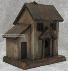 Rustic Birdhouse Designs | Details about Hanging Timber Bird House Cottage Design Rustic Aged ...