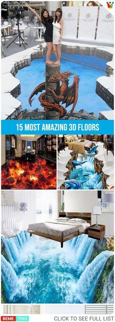 15 Most Amazing 3D Floors #3d #3dfloors #amazing #amazingart #artwork #animation #artist #art #bemthis 3d Art Drawing, 3d Drawings, 3d Floor Art, Cool Illusions, Optical Illusions, Pavement Art, Sidewalk Art, 3d Street Art, Painted Floors