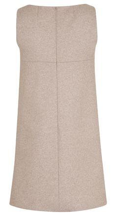 Robe trapèze en drap de jersey chiné