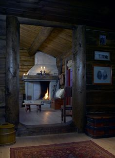 Building A Cabin, Mountain Cottage, Stone Cottages, Saunas, Cozy Cabin, Scandinavian Home, Cabins In The Woods, Log Homes, Lodges