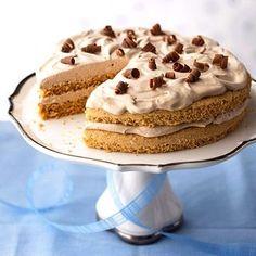 Hazelnut-Mocha cake Torte low sugar diabetic desert recipe.