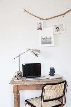 Home Office Ideas for Small Spaces. Minimal small home office size is not an obstacle for workers or entrepreneurs to do business. Currently, when you already have a mobile phone and . Workspace Inspiration, Interior Inspiration, Branch Decor, Branch Art, Unique Wall Art, Office Workspace, Office Table, My New Room, Minimalist Home
