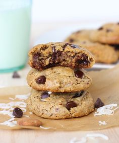 Almond Joy Cookies {gluten free, dairy free & refined sugar free} via makingthymeforhealth.com