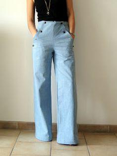 Sailor pants to sew