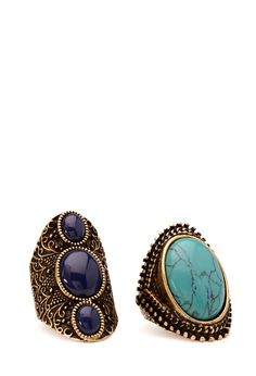 Earthy Stone Ring Set | FOREVER21 #Accessories